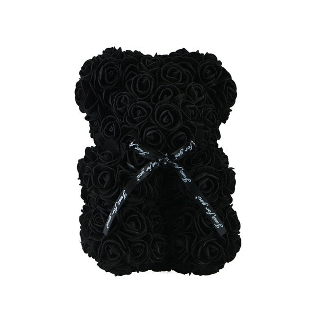 Rose Teddy Bear - JustBlackCo