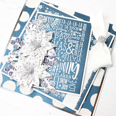 All about Christmas Navy and White Project by Glynis Bakewell