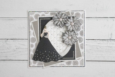 Black and White Floral Dress 3D Embossing Folder Project