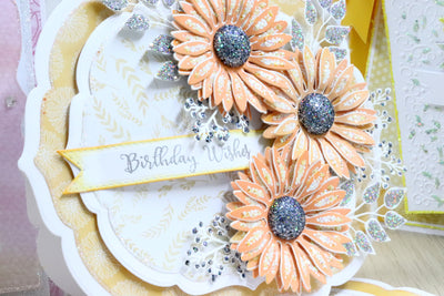 Orange Daisy Flower Project by Glynis Bakewell