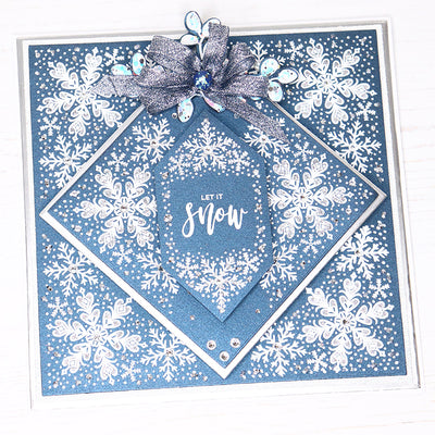 12 Projects of Christmas Day 2 Snowy Christmas Stamped Card by Rebecca Houghton