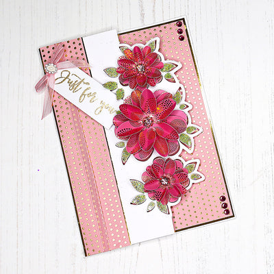 How to make a On the Edge Summer Blooms Die-Cut Card
