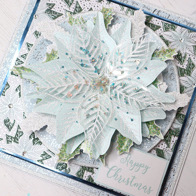 Poinsettia Christmas Cardmaking Project by Rebecca Houghton