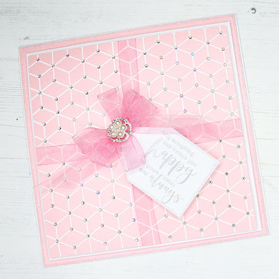 How to Tie Bows and Create a Background using the Geometric Background Stamp