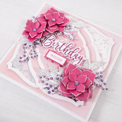 Mystical Flower Birthday Wishes Cardmaking Project by Glynis Bakewell