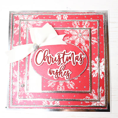 12 Projects of Christmas Day 8 - Red Snowflake Layered Stamping Project by Glynis Bakewell