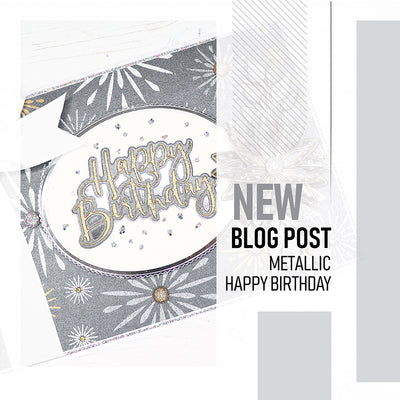 How to Make Black and Metallic Happy Birthday Card