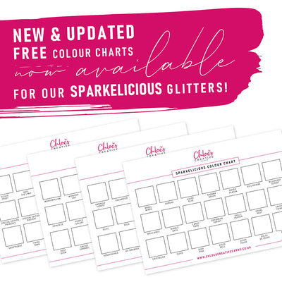 Stamps by Chloe Sparkelicious Glitters Colour Chart Printable