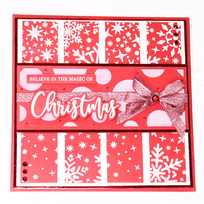 Believe in the Magic of Christmas Stencilled Card by Rebecca Houghton