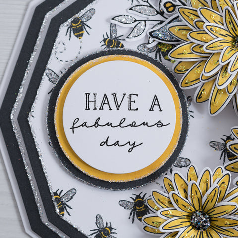Put a smile on someone's face with this Fabulous Day greetings card featuring Chloes Creative Cards Busy Bee Stamp & Die set
