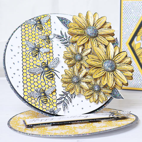 Step-by-Step-Honeycomb-and-Bee-Circle-Easel-Card-Project