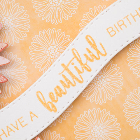 Orange and Pink Beautiful Happy Birthday Card.  Chloes Creative Cards. (Card making tutorial).