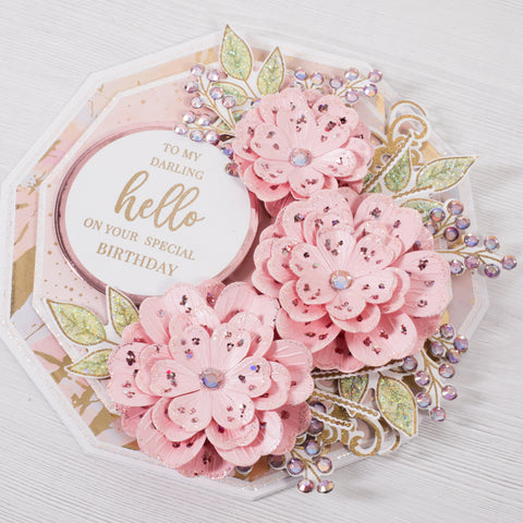 Posy Flower Cut and Emboss Decagon Card Making Project