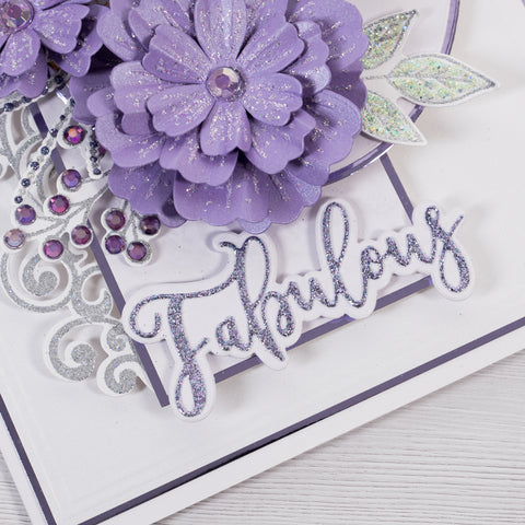 Learn how to make an easy handmade card at home with this step-by-step tutorial.  Using card all the essentials you need to make cards at home from Chloes Creative Cards.  Make Today Fabulous Card project shows you how to create beautiful 3D floral cards.  Learn how to emboss.  Learn how to use cutting dies.  Learn how to use layering dies.  Create 3D paper flowers.