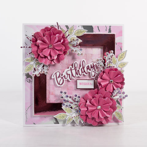Pink Paper Weaving Card Making Project