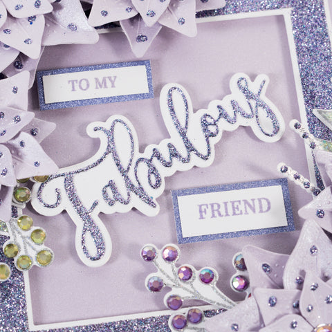 Learn how to make an easy handmade card at home with this step-by-step tutorial.  Using card all the essentials you need to make cards at home from Chloes Creative Cards.  Fabulous Friend Card project shows you how to create beautiful 3D floral cards.  Learn how to emboss.  Learn how to use cutting dies.  Learn how to use layering dies.  Create 3D paper flowers.