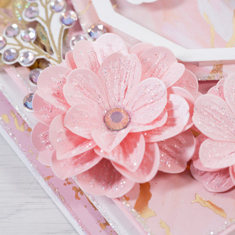 Learn how to make fancy 3D flower cards at home following Chloes Creative Cards step-by-step tutorials.  Join our LIVE stamp-a-long tutorials to make beautiful cards at home.