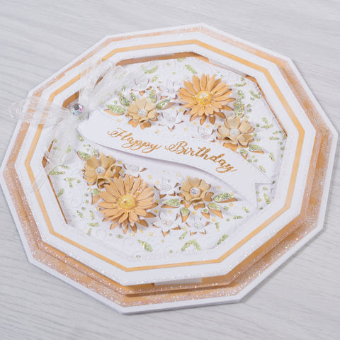 Yellow Daisy Floral Card.  Learn how to make cards at home with this tutorial from Creative Cards. Follow this step-by-step workshop on making your own cards.(Card making tutorial).