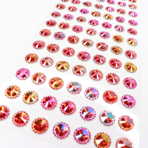 Craft Buddy Self Adhesive Beaded Pointed A/B Gems Red