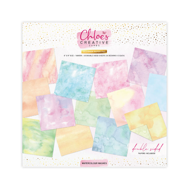 Chloes Creative Cards Watercolour Washes 8x8 Printed Paper Paper