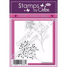 Stamps by Chloe JUL017 Christmas Sprays Clear Stamp Set