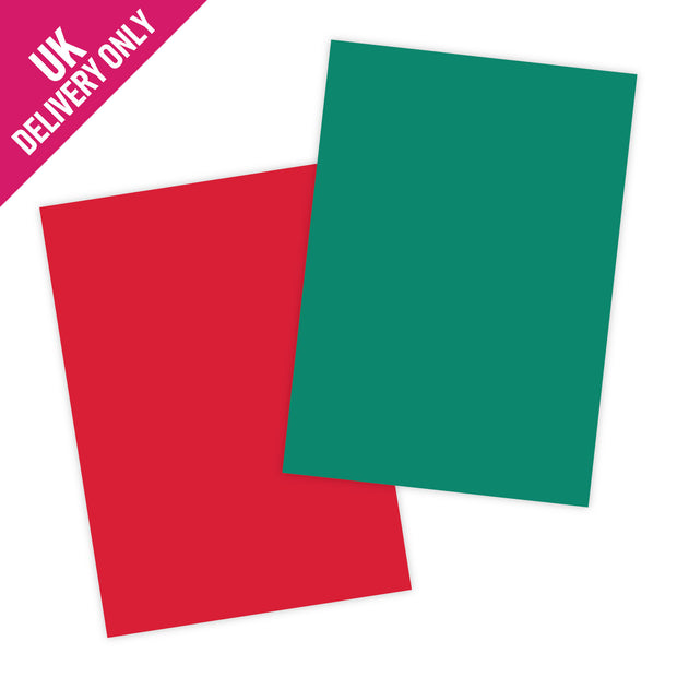 Craft UK A4 Red and Green Card