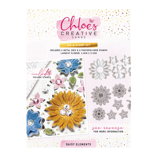 Chloes Creative Cards Daisy Elements Stamp and Die Set