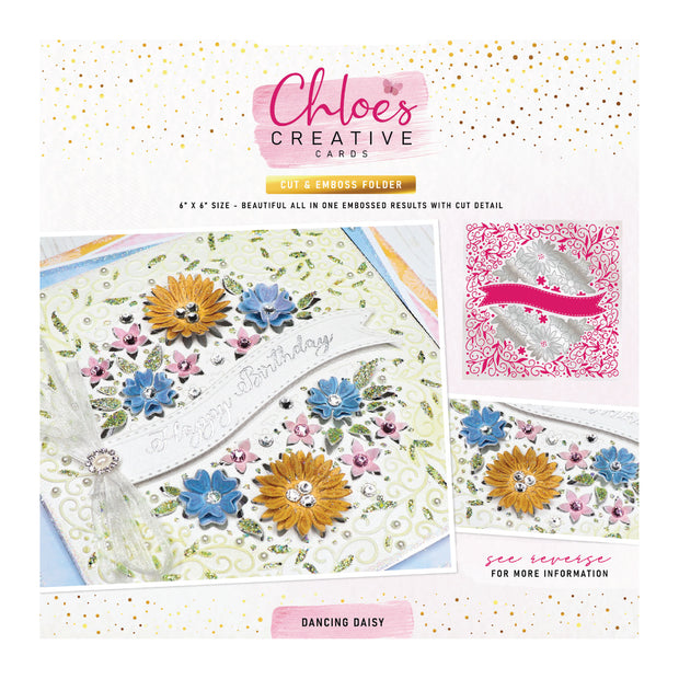 Chloes Creative Cards Dancing Daisy 6x6 Cut & Emboss Folder