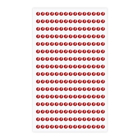 Eleganza Craft Stickers 4mm Self Adhesive Jewels Red