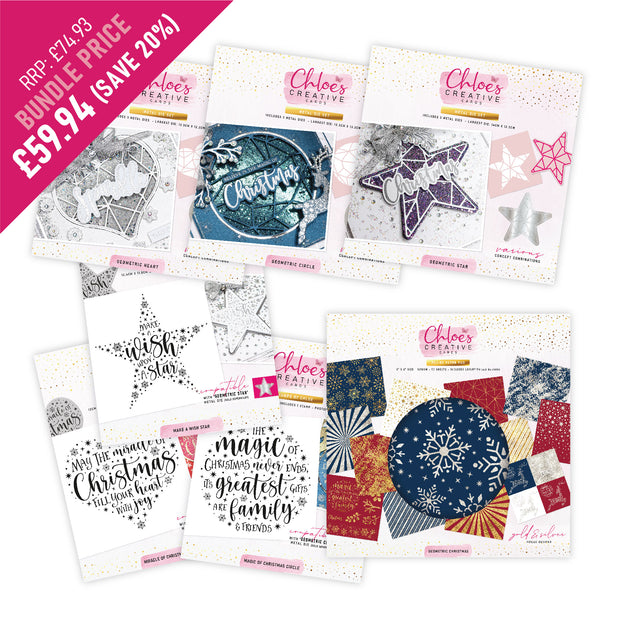 Chloes Creative Cards Geometric Christmas Bundle