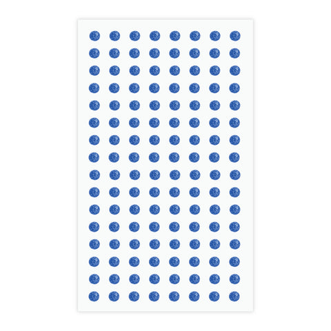 Eleganza Craft Stickers 4mm Glitter Gems Royal Blue