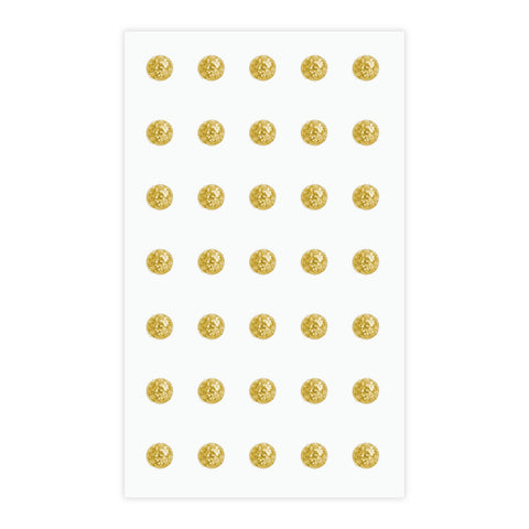 Eleganza Craft Stickers 8mm Glitter Gems Gold