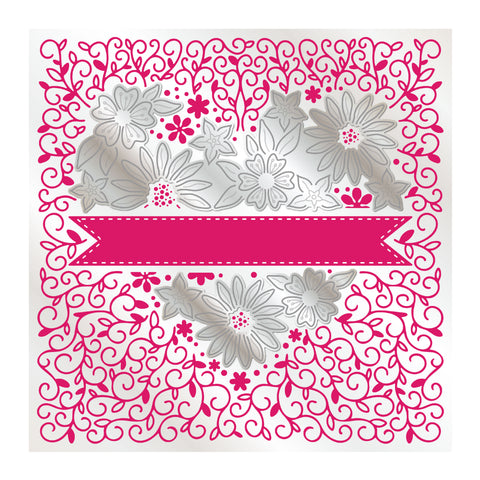 Chloes Creative Cards Heartfelt Daisy 6x6 Cut & Emboss Folder