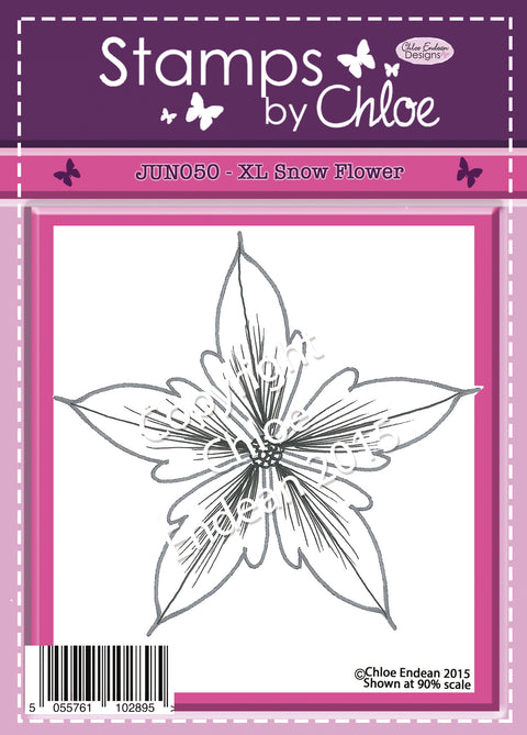 Stamps by Chloe XL Snow Flower Clear Stamp