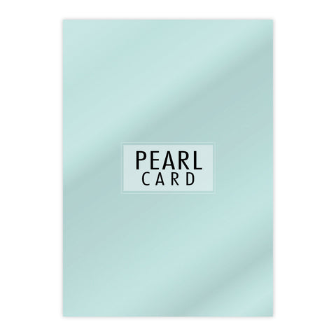 Chloes Luxury Pearl Card 10 Sheets Aquamarine