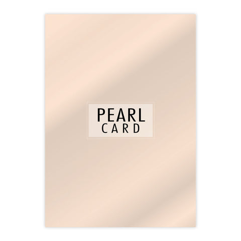 Chloes Luxury Pearl Card 10 Sheets Coral
