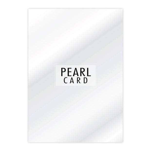 BULK - Chloes Luxury Pearl Card 50 Sheets Crystal White