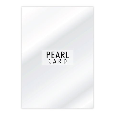 Chloes Luxury Pearl Card 10 Sheets Crystal White