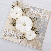 Chloes Creative Cards Foiled Paper Pad (8 x 8) - Sugared Pastels