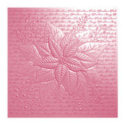 Chloes Creative Cards 3D Embossing Folder (6 x 6) - Pretty Poinsettia