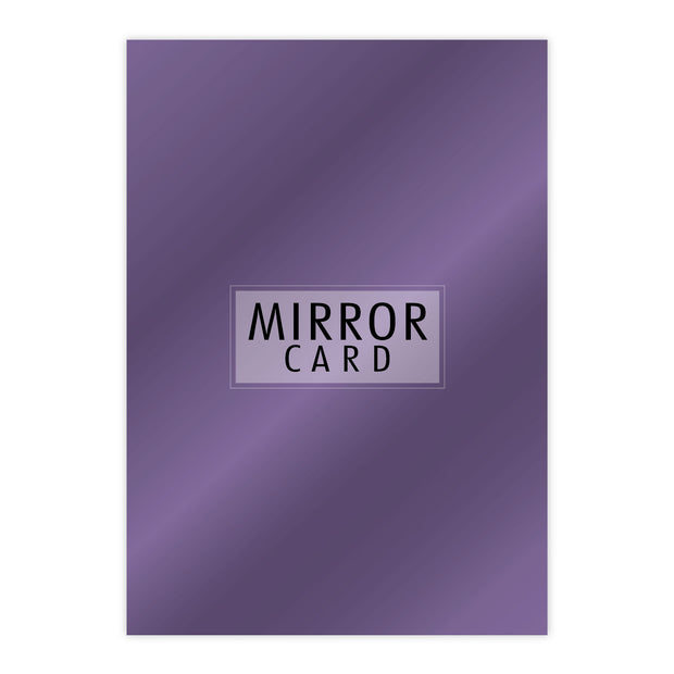 Chloes Creative Cards A4 Mirror Card - Amethyst