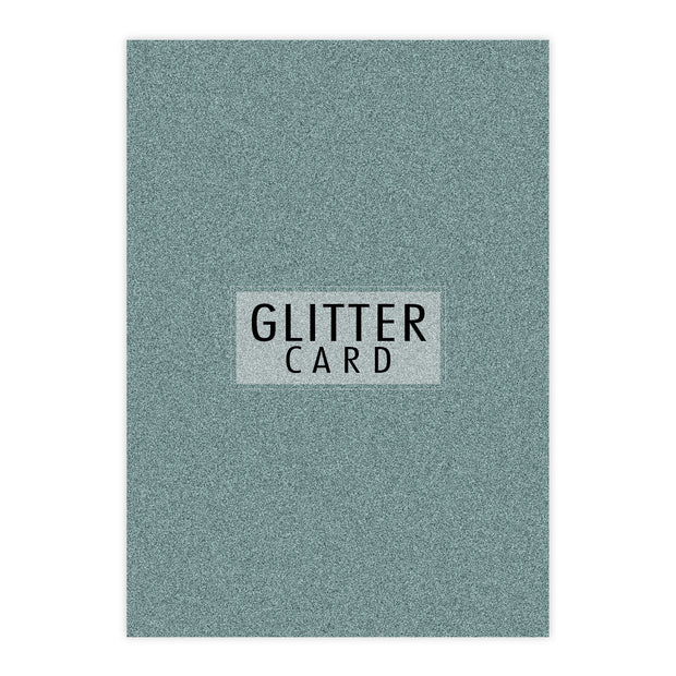 Chloes Creative Cards A4 Glitter Card - Aquamarine