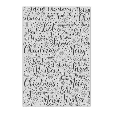 Chloes Creative Cards Christmas Sentiment Background A6 Photopolymer Stamp