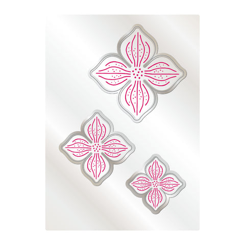 Chloes Creative Cards Mystical Flower 5x7 Cut & Emboss Folder