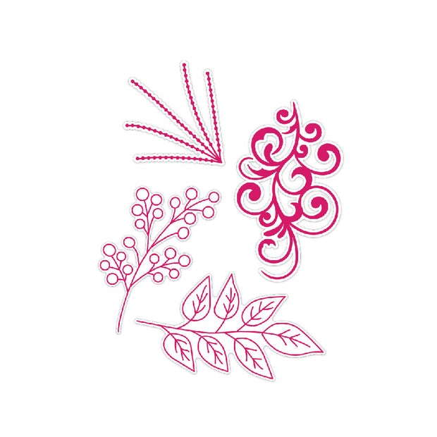 Chloes Creative Cards Dazzling Foliage Stamp and Die Set