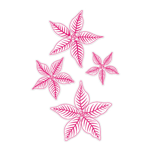 Chloes Creative Cards Die & Stamp Set - Christmas Poinsettia