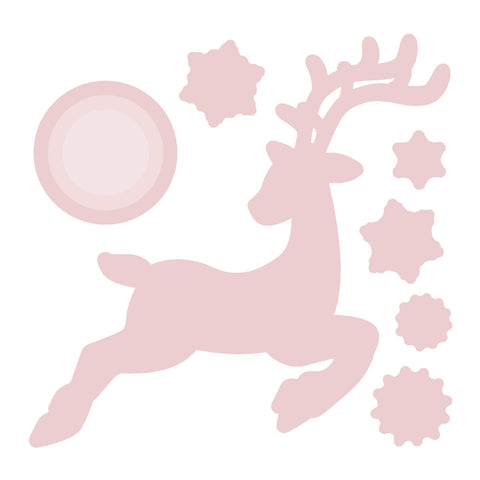 Chloes Creative Cards Die & Stamp Set - Dashing Reindeer