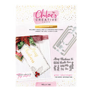 Chloes Creative Cards Holly Tag Stamp and Die Set