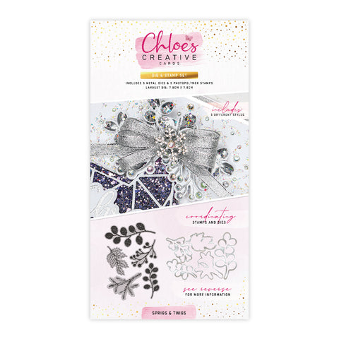 Chloes Creative Cards Die & Stamp Set - Sprigs & Twigs