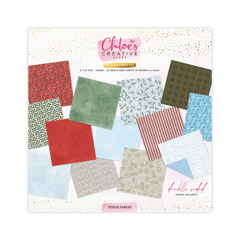 Chloes Creative Cards Festive Fancies 8x8 Designer Printed Paper Paper